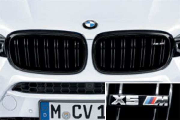 ☆BMW純正☆BMW M Performance ブラック・キドニー・グリル 左右セット X5 M(F85)