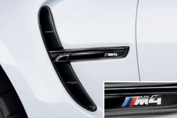 ☆BMW純正☆BMW M Performance サイド・グリル ハイグロス・ブラック 左右セット M4(F82)