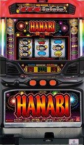 【アクロス】ハナビBHS2◆コイン不要機セット◆パチスロ実機【中古】