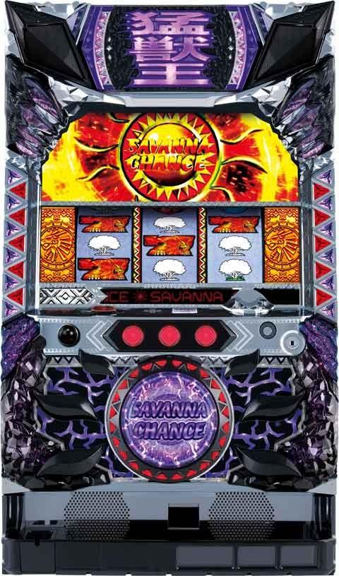 【サミー】パチスロ猛獣王 王者の咆哮◆コイン不要機セット◆パチスロ実機【中古】
