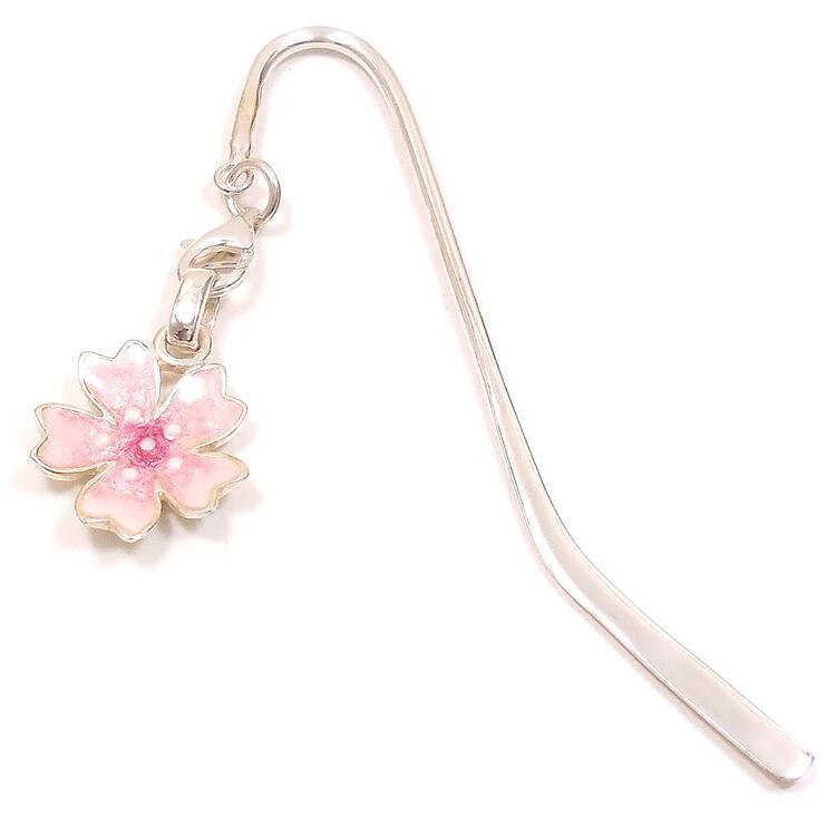 銀のしおり 栞 ブックマーク ブックマーカー サツルノ:桜チャーム シルバー925