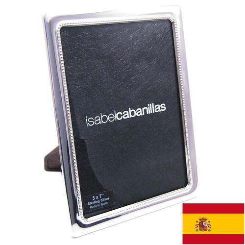 正式的 名入れ刻印シルバーフォトフレーム (刻印別料金) ドットパターン 窓サイズ12.5cm×17.5cm スペイン:イザベル社製, 一志郡:9575f204 --- hortafacil.dominiotemporario.com
