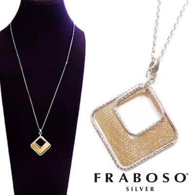 FRABOSO フラボッソ ネックレス レディース ロング ペンダント ゴールド シルバーentiere アンティエーレ GR09307BC RH+GD 送料無料 インポート