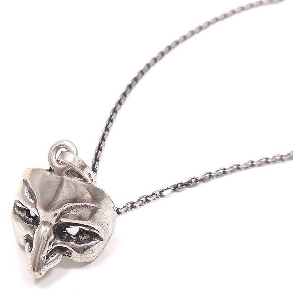 ネックレス ペンダント シルバー925 ペンダント ベネチアンマスク 鷲鼻の男の仮面 いぶし銀 イタリア製