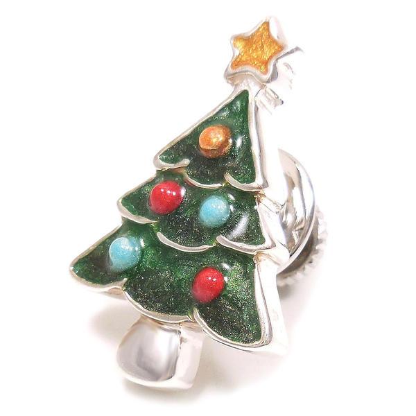 サツルノ ピンブローチ ラペルピン シルバー925 クリスマスツリー SATURNO インポート