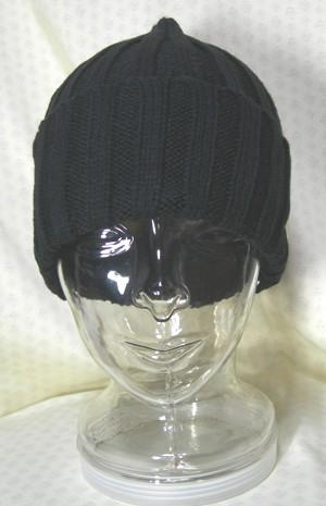 送料無料 百貨店 アウトドア ニット 帽子 [再販ご予約限定送料無料] レディス メンズ ニット帽 黒無地 ランニング 山ガール ランスマ カメラ女子 ローゲージリブ編みニット帽子 チャリダー カジュアル クロスバイク
