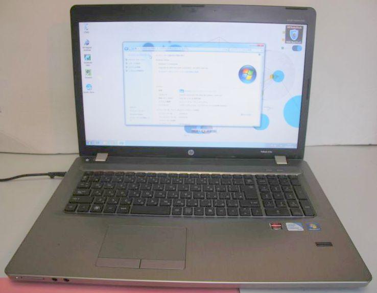 HP製 ProBook 4730s/B810 1.6GHz/4GB/320GB/無線LAN/DtoD/Win7/17.3インチワイドHD+/10キー/Windows10変更可能!【中古】【送料無料