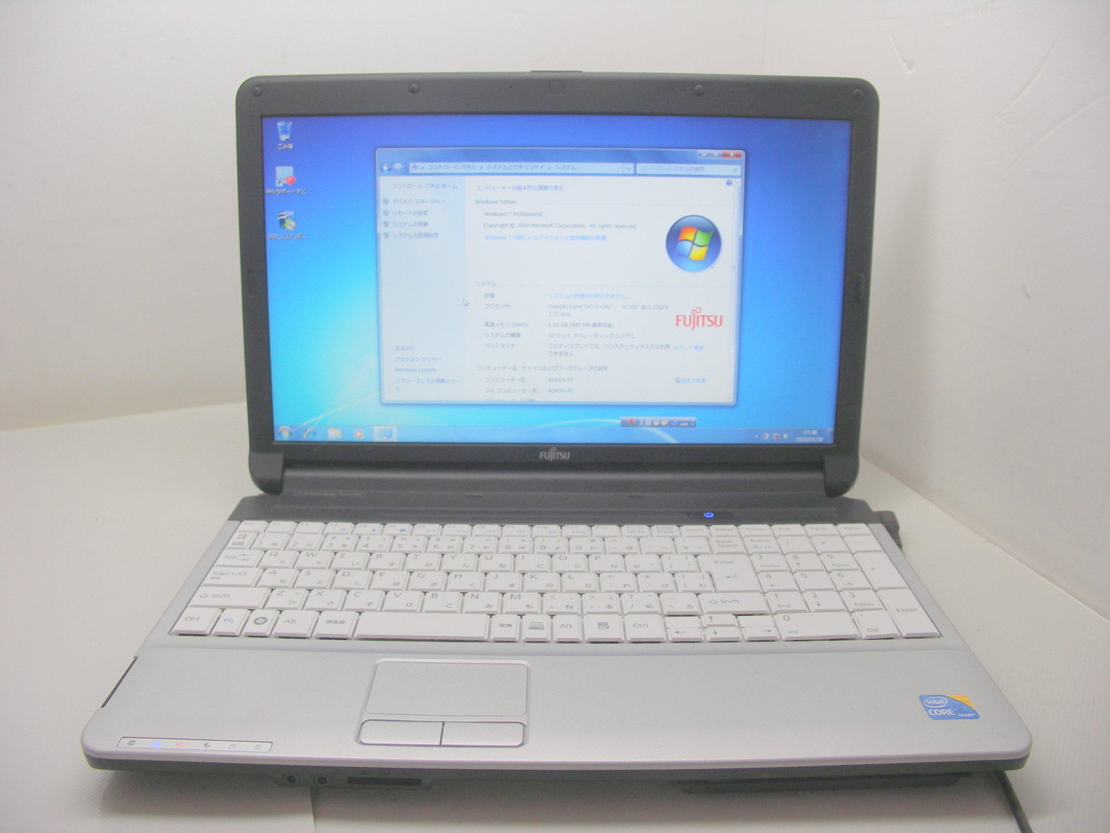 LIFEBOOK A530/AX i3 2.27GHz 160GB 2GB Win7 難有(小)【中古】【送料無料】