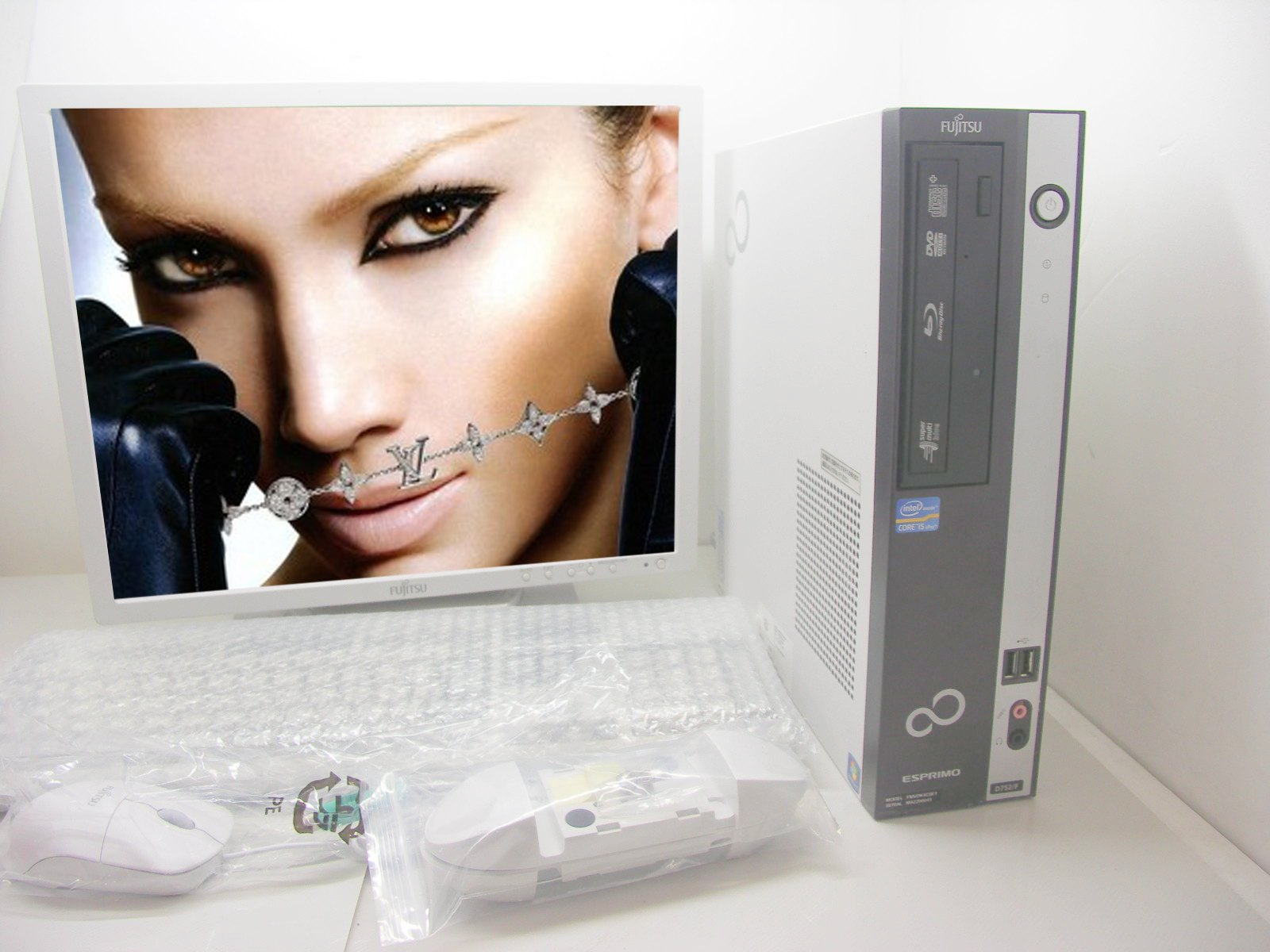 富士通 ESPRIMO D752/F Core i5 3470 3.2GHz (最大3.6GHz)4GB 250GB スーパーマルチ Windows7 24インチモニタ【中古】【送料無料】【あす楽対応】
