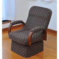 ※メーカー直送・同梱代引き不可 ゆったりリクライニング回転高座椅子