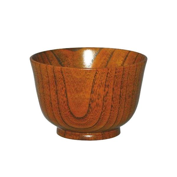 0F22-6 丸十 木製 食洗機対応 羽反小汁椀 目摺り 4個セット