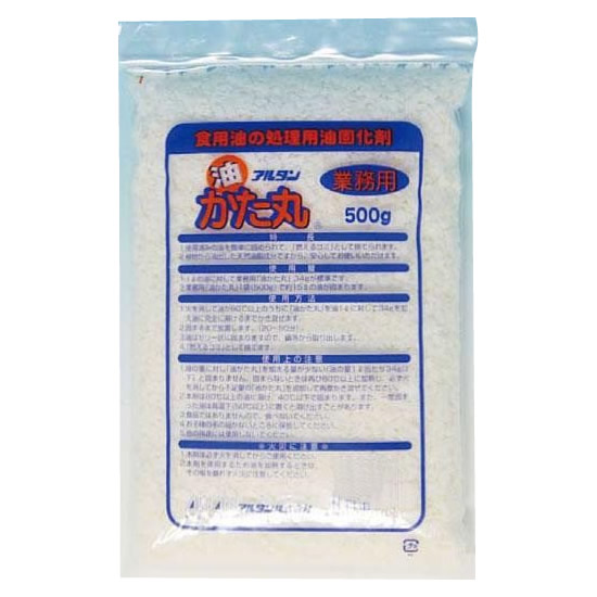 ※メーカー直送・同梱代引き不可 アルタン 食用廃油固化剤 油かた丸 500g×24袋