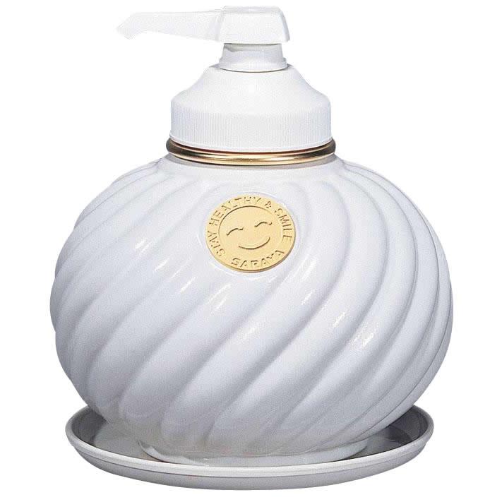 サラヤ ウォシュボン陶器製容器 MD-1 ポンプ付 ホワイト 1L×6本