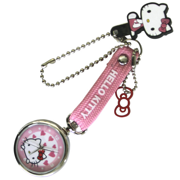 Kitty key holder watch round watch kids Hello Kitty Sanrio Keychain watch clock time children children's kids cheap cheap gifts gifts gifts