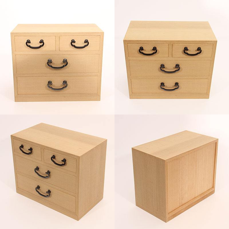 This 4 Drawer Small Article Storage Chest Is Made Of Only Aizu Kiri Paulownia Which Produced In Oku Region The S Town
