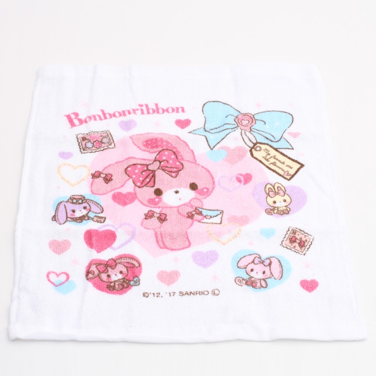 Hand towel set character Sanrio ぼんぼんりぼんおしぼりおしぼり case kids child child  kindergarten Elementary School excursion athletic meet holiday making picnic