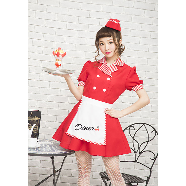 e04b15fd1ff2 ... NYW cherry diner clothes disguise Halloween party costume wedding  ceremony second party entertainment year-end ...