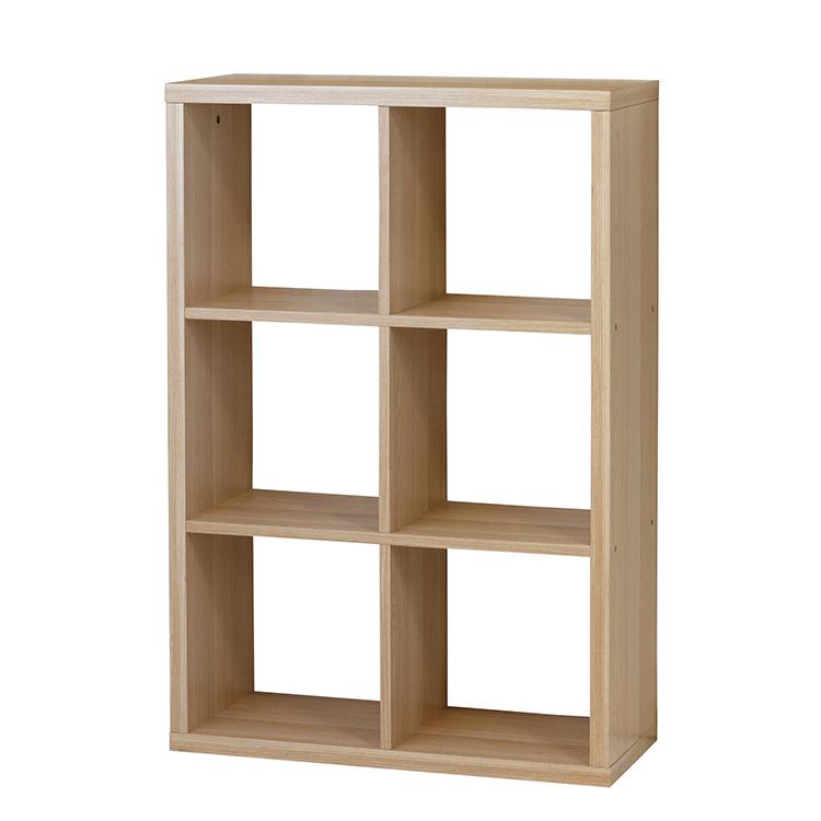 6マスラック ラック 棚 収納 新生活 木製 間仕切り シンプル 木製ラック 【66566】【メーカー直送のため代引不可】クロシオ