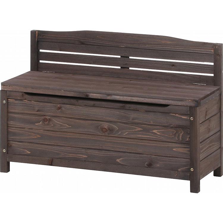 木製収納ベンチ【メーカー直送のため代引不可】