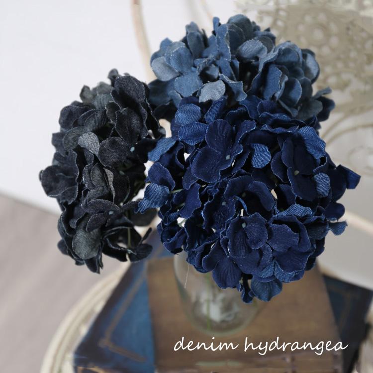 インテリア フェイクフラワー え?デニム素材のお花 ?あじさいのおしゃれなフェイクフラワー お部屋のアクセントに 母の日や友人へのプレゼントにもぴったり フェイクグリーン デニムあじさい いなざうるす屋 春の新作 ブラック ダークブルー ブルー グリーン 紫陽花 おしゃれ プレゼント あじさい 正規品 クリスマス デニム紫陽花 ギフト 模様替え お洒落 イミテーション 雑貨 引越しイメチェン