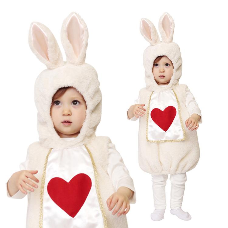 肌触りのよいふわもこ素材が気持ちいい♪裏地も付いてしっかりとした作りになっています。ワンピースタイプだからオムツ替え楽々! 9月中旬入荷 【ハロウィン コスプレ ベビー うさぎ 着ぐるみ】 マシュマロラパン Baby ■ コスチューム 衣装 赤ちゃん 子供用 きぐるみ ラビット キッズ 子ども ウサギ 男の子 女の子 寝相アート インスタ映え SNS映え 記念 誕生日 プレゼント ギフト BYZ