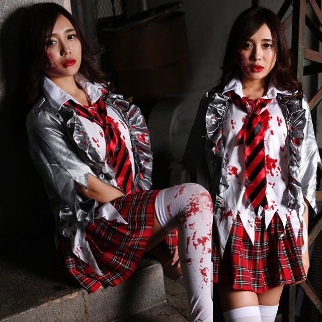 Horror System Group Party Goods Vixy Covered With Zombie Uniform Clothes Lady S Disguise Cute Cute Halloween Costume Wedding Ceremony Second Party