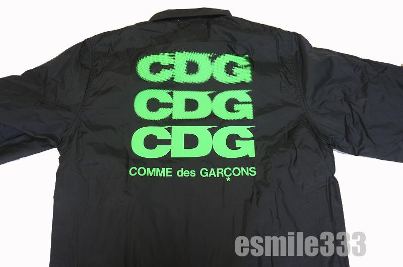 2018 コム デ ギャルソン(COMME des GARCON) GOOD DESIGN SHOP/コム・デ・ギャルソン グッドデザインショップ CDG LOGO COACH JACKET グリーンロゴコーチジャケット黒M