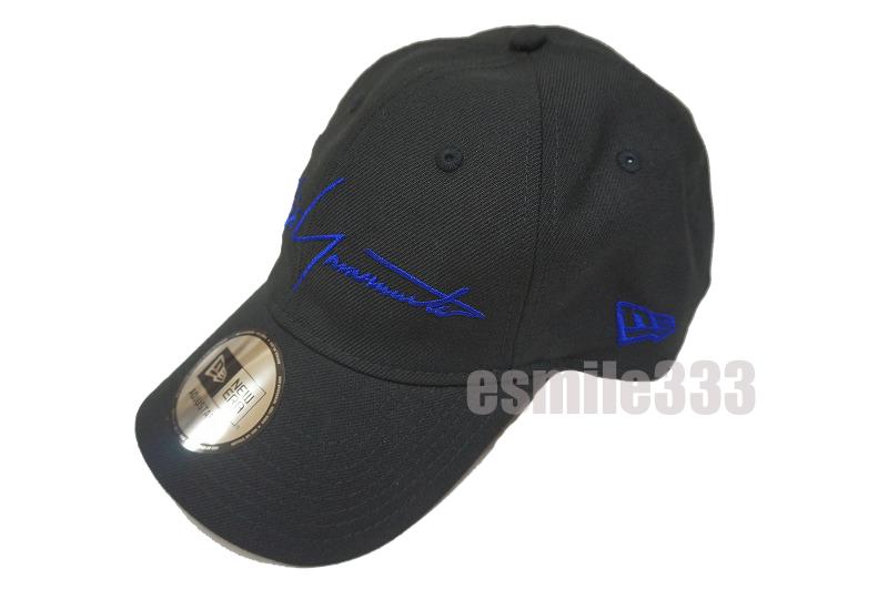 9THIRTY クロスストラップ Yohji Yamamoto SS19 ブラック × ブルー/ニューエラ ヨウジヤマモト 2019 CAP キャップ