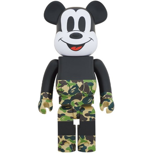 高級ブランド Medicom Bape 1000% Ape Bearbrick Medicom A Bathing Ape Bape x Mickey Mouse green/ミッキー エイプ ベイプ メディコムトイ, ZECOO COLOR:94efe8a2 --- briefundpost.de