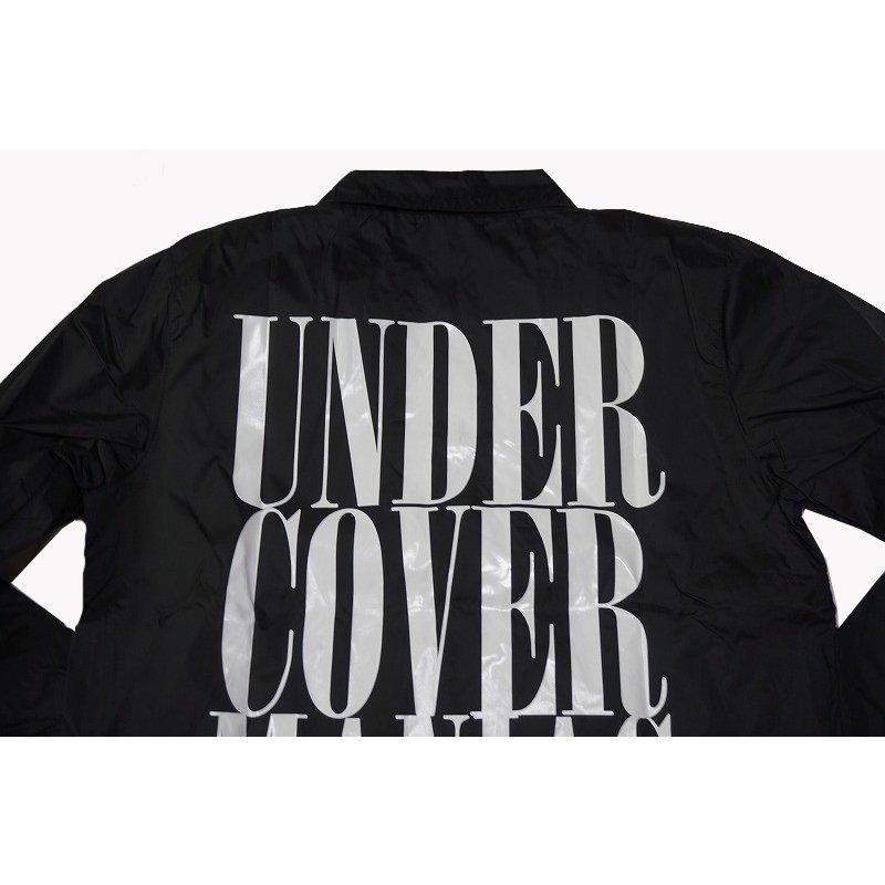 UNDERCOVER(アンダーカバー)ロゴ コーチジャケット黒M