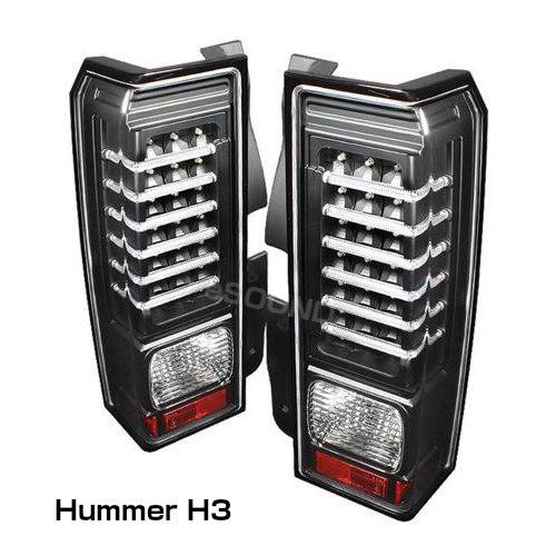 HUMMER【ハマーH3】(05-09y)LEDテールランプ ブラックモデル テールライト カスタム パーツ