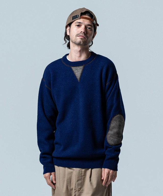 glamb Elbow patch knit 国内在庫 Autumn Collection 即出し取り寄せ商品 正規逆輸入品 2020