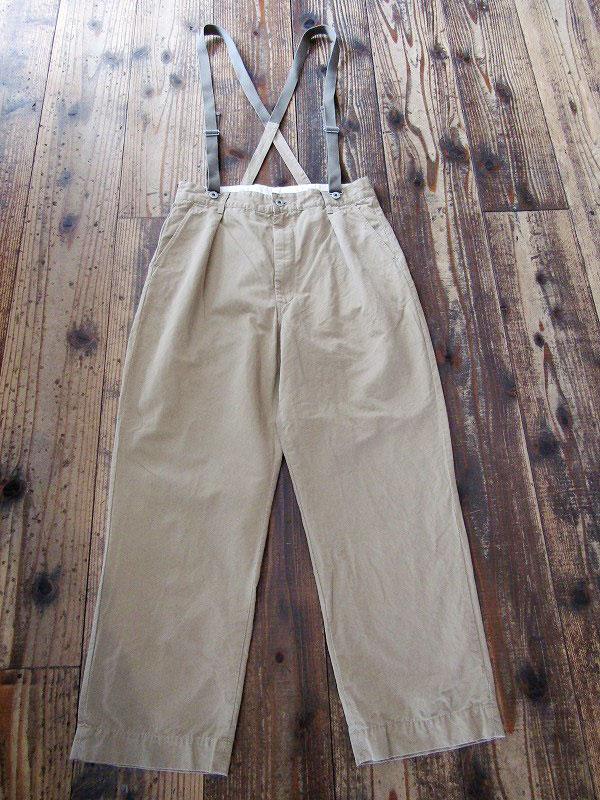 【H.UNIT STORE LABEL】( エイチユニットストアレーベル)「Kersey suspenders tuck trousers」(送料無料)