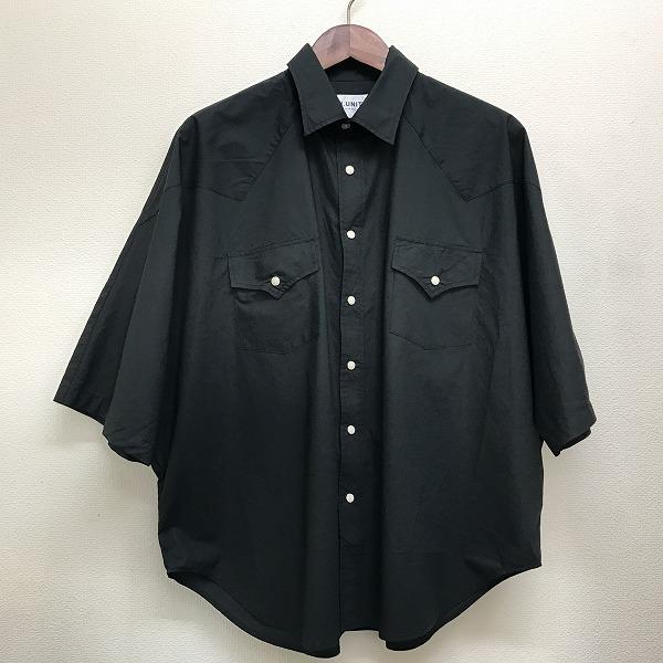 【H.UNIT】( エイチユニット)「Typewhiter western dolman short sleeves shirt 」