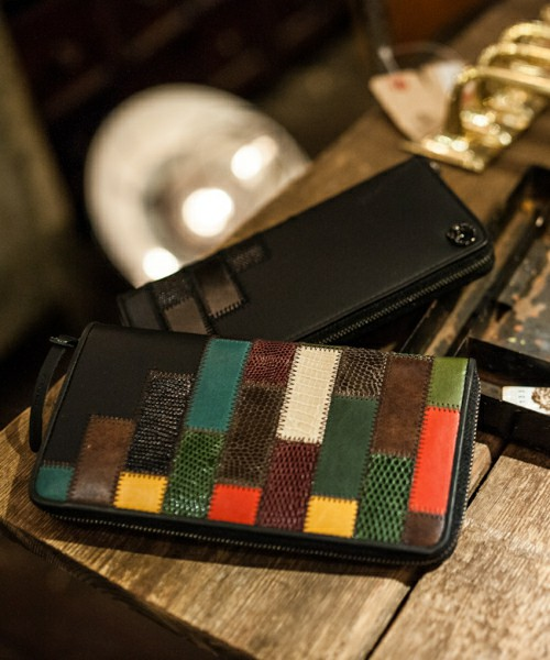 glamb【Gaudy zip wallet by JAM HOME MADE】 ※メーカーお取り寄せ予約商品 glamb【Gaudy zip wallet by JAM HOME MADE】[Blkはご注文より10日前後のお届け予定、Colorfulは2020年4月中旬頃の入荷予定。]