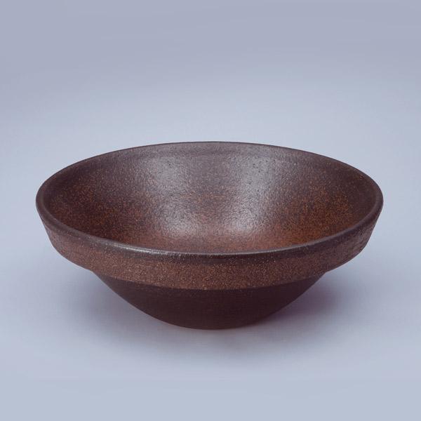 洗面 洗面ボール 洗面ボウル 手洗い鉢 洗面台 陶器 洗面 ボール ボウル コゲ窯肌 半埋型直径400ミリ