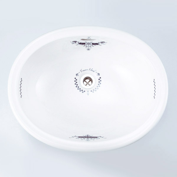 【年中無休】 洗面 洗面ボール 洗面ボウル 手洗い鉢 洗面台 陶器 洗面 ボール ボウル コレクティブルズ 洗面器 Mオーバル(排水金具なし), ベビー用品の街 99900ae9