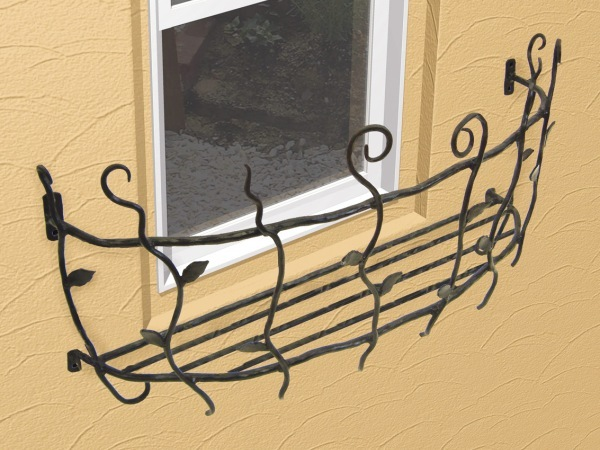 フラワーボックス 壁飾り ロートアイアンフラワーボックス(幅730mm)オリジナル 壁飾り 窓手すり エクステリア 防犯