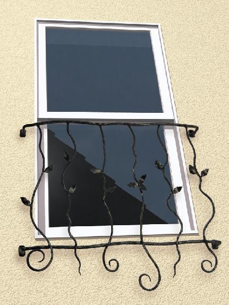 窓格子 面格子 ロートアイアン面格子(幅730mm) オリジナル アイアン壁飾り 窓手すり エクステリア 防犯