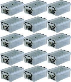 【スーパーSALE特別価格】【300円OFFクーポン配布中】 収納ボックス 収納ケース プラスチック製 タグボックス02 お買い得15個セット 透明(クリア) 収納箱で簡単整理 重ね置き可能