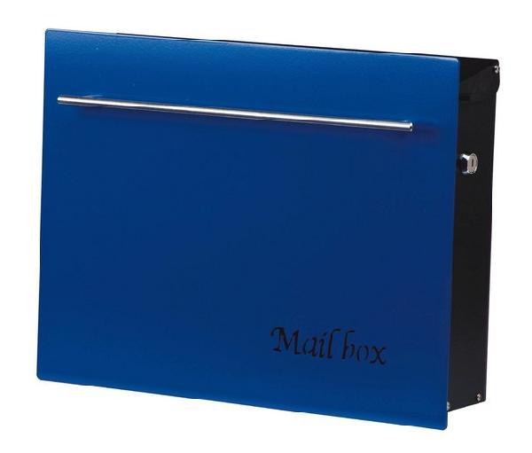 ポスト 郵便受け 壁掛け郵便ポスト デザインポスト 鍵付き ノイエキューブ アドバンスブルー 壁掛け式 モダンスタイル