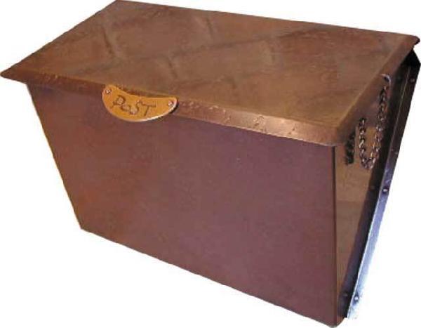 ポスト 郵便受け 壁掛け郵便ポスト デザインポスト 銅製ポスト7型 P-7 ハンドメイド
