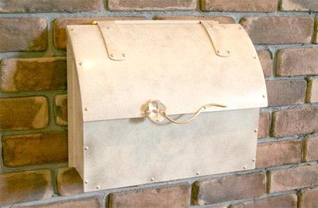 ポスト 郵便受け 壁掛け郵便ポスト デザインポスト エレガンス銅製ポストEP-02 レトロ風 ハンドメイド