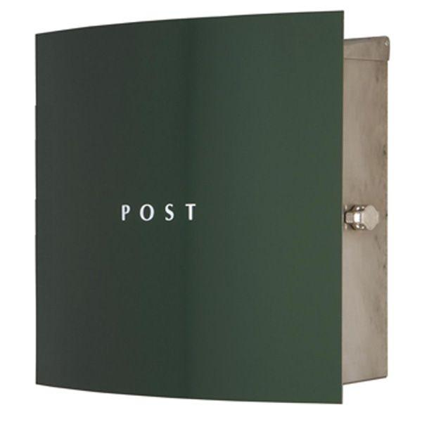 ポスト 郵便受け 郵便受け 壁掛け郵便ポスト 鍵付き ステンレスデザインポスト ボン 鍵付き ボン ステンレス グリーン 壁掛け式 モダンスタイル, スポーツのスギウチ:fedaedf9 --- coamelilla.com
