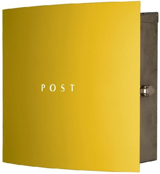 ポスト 壁掛け式 郵便受け ステンレス 郵便受け 壁掛け郵便ポスト ステンレスデザインポスト 鍵付き ボン ステンレス メロンイエロー 壁掛け式 モダンスタイル, レックダイレクト ホームストア:f5a5f060 --- coamelilla.com