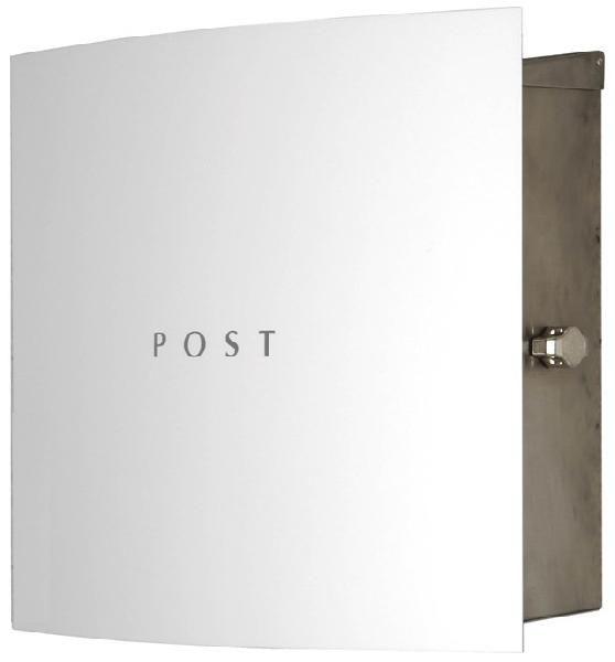 ポスト モダンスタイル 郵便受け 壁掛け郵便ポスト ステンレスデザインポスト 鍵付き ボン ホワイト ステンレス ステンレス ホワイト 壁掛け式 モダンスタイル, サロマチョウ:7f1ef880 --- coamelilla.com