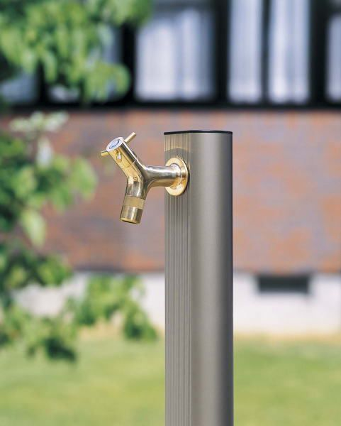 立水栓 水栓柱 ガーデニング アルミramo蛇口研磨付きアルミ水栓サンステン900 水回り ガーデン水栓柱 DIY