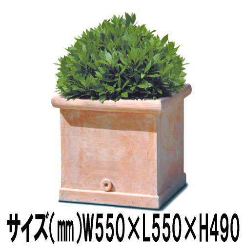 プランター 大型 植木鉢 長方形 ファイバー樹脂 鉢 アンティーク 風 CLタブポット 幅550×長さ550×高さ490 底穴あり ガーデニング 園芸用品 庭作り オブジェ 深型 送料無料 寒冷地 使用可能