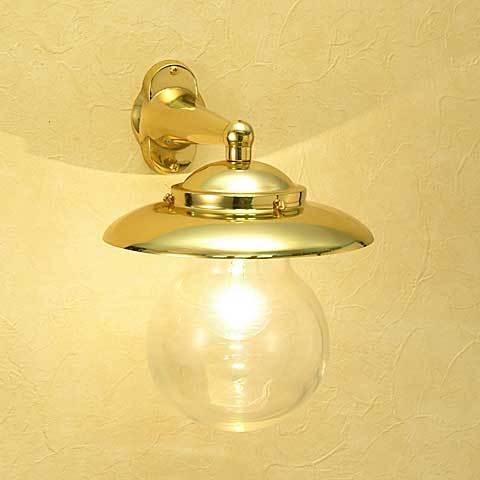 室内 照明 おしゃれ ブラケットライト マリンランプ マリンライト 真鍮 br2071 クリアガラス W206×H272×D260mm 白熱灯 40w 照明器具 おしゃれ インテリア 照明 ブラケット 室内 リビング 玄関 廊下 階段 キッチン 洗面所 トイレ