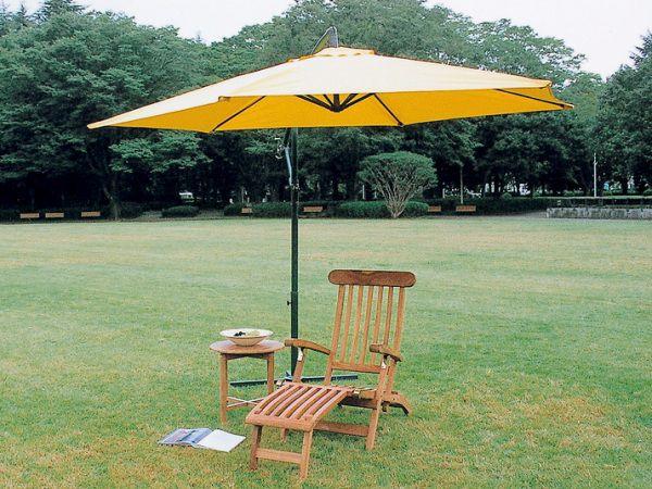 Garden Parasol Sunshade Parasol Garden Umbrellas Umbrella Arm Type 1 Yellow  Garden Furniture